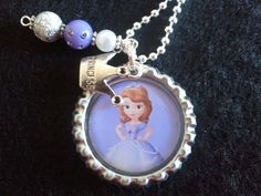 Sofia the First Little Girl's Necklace Charm Jewelry Disney Children Kid Birthday Valentine's Easter Gift. $9.99, via Etsy.