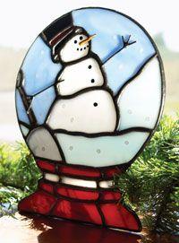 Snowman snow globe free pattern