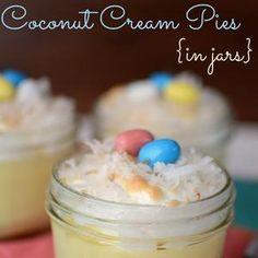 Coconut Cream Pies in Jars