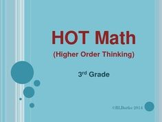 Higher order thinking daily math questions! Students will create, explain, analyze, modify, and explore math concepts everyday!