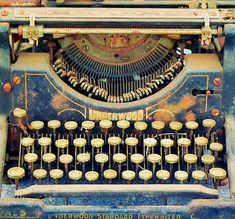 Vintage typewriter--a real beauty. Learn about your collectibles, antiques, valuables, and vintage items from licensed appraisers, auctioneers, and experts at BlueVault. Visit:  http://www.bluevaultsecure.com/roadshow-events.php