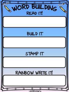 FREEBIE-Word Building Activity