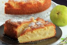 cake, french pear, gâteau fondant, pear tart, fondant aux, food, french desserts, diet recip, aux poir
