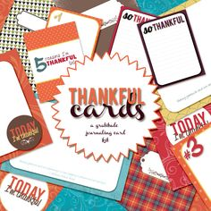 Got Gratitude? Create 5+ projects with this Thankful Card Set!  -- also perfect for putting in SMASH books and doing a SMASH 30 Days of Thankful project!