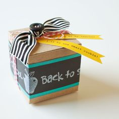 See how to create this teacher treat box for your child to take to school. #CTMH