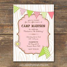 Party Invitation - Camp Theme