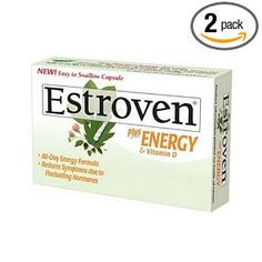 #Estroven Plus Energy & Vitamin D Caplets, 40-Count Boxes (Pack of 2) box pack, 40count box, vitamin