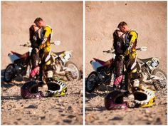 Motocross couple.