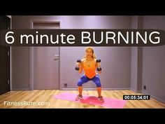 Total Body Strength And Fat Burning Workout 6 Minute Dumbbell And Bodyweight Exercises Level 2 - YouTube