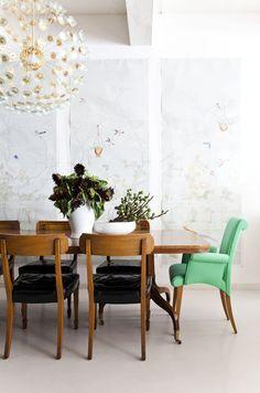 chic dining design by jenny komenda