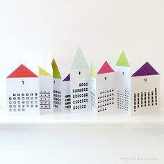 2013 printable calendar houses by Mr. Printables #paper