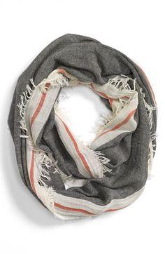 grey & orange scarf
