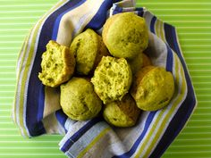 Spinach Cake Muffins on Weelicious
