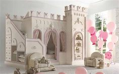 Castle Bed little girl bed, white castl, kid beds, castl bed, castle bed, dream bed, toddler bed, princess room, dream rooms