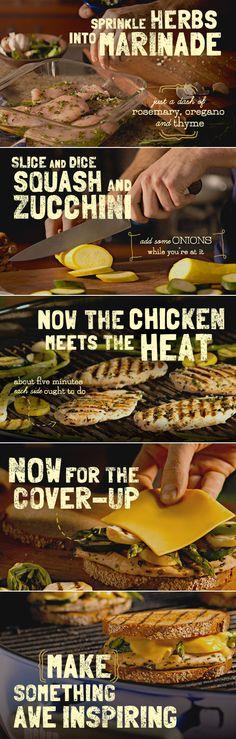 Grilled Chicken Patty Melt recipe