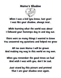 "Poem, ""Mama's Shadow"""