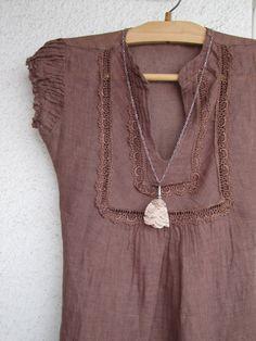 cotton, necklac lace, gentl tulip, lace pendant, chain, dresses, blous, closet, tulip necklac