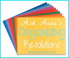 Organizing Resolutions: Organizing kids' school work -- Ask Anna