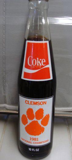 Clemson: 1981 VINTAGE COKE BOTTLE