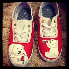Coca cola bear shoes
