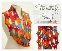 Starstuff free #crochet cowl pattern from @mooglyblog