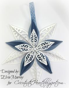 Cricut with Heart: Artiste Ornament Star  #CTMH