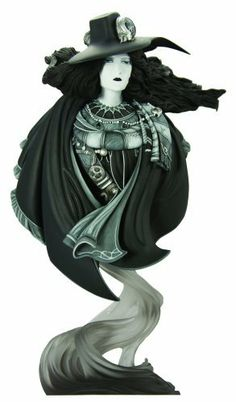 """Vampire Hunter D Bust Mono Variant by DARK HORSE COMICS. $74.99. Painted by master prototype painter Kat Sapene, in the monochromatic art style of Amano. Packaged in a deluxe full-color box. Sculpted by Tim Bruckner. 8.5"""" tall, monochromatic style paint. Limited edition. From the Manufacturer                In a move inspired by the manga genre, and as a special treat for art lovers and statue collectors, Dark Horse has commissioned a special rare variant compan..."""