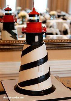 Lighthouse Cake...amazing detail work (fence especially!)