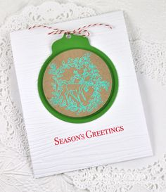 Season's Greetings Card by Dawn McVey for Papertrey Ink (September 2014)