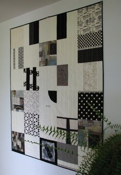 Black and White Quilt Modern Quilt Lap by CentralFabrications