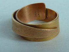 ring, deborrah daher (?), 14k