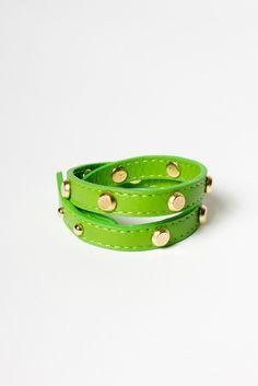 Leather Studded Wrap Bracelet