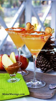 Salted Caramel Appletini - All the flavors of fall in this fun adult drink.  Step-by-step photos.