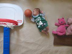 awesome baby photo, basketball