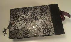 Steampunk Grunge Paper Bag Mini Album by Rhaevyn Hart