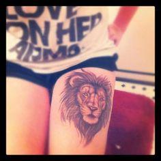 i think lion tattoos are pretty.
