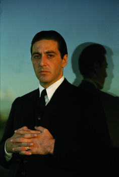 Portrait of Don Michael Corleone played by Al Pacino.