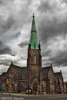 The Jarvis Street Baptist Church is a Baptist church located at the intersection of Gerrard Street and Jarvis Street in downtown Toronto, Ontario. One of the oldest churches in the city, its congregation was founded in 1818, and the present church constructed in 1875. The Jarvis Street Baptist Church was designed in the Gothic Revival style by the architectural firm of Henry Langley and Edmund Burke who served for many years at Jarvis Street Baptist Church as a Sunday-school teacher.