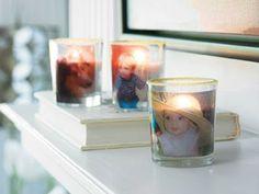 Photo Glass Votive Candles