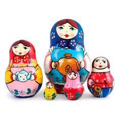 """Traditional Matryoshka """"Teapots""""    FromRussia.com"""
