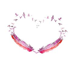 "LOVE bird feather ""i'll fly away"" in middle"