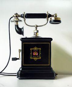 "Christopher Scott; Antique Swedish Telephone  24"" x 20""  |  Oil/Canvas  |  2011"