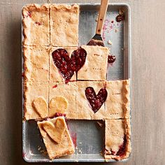 Double-Cherry Slab Pie #valentines