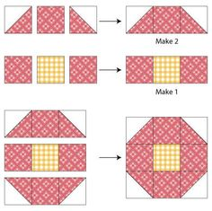 Shoofly Quilt Block Pattern
