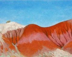 Georgia O'Keeffe. Series Near Abiquiu, New Mexico - Hills to the Left
