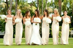 Adorable champagne bridesmaid's dresses