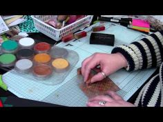 ▶ How to use Metallic Pan Pastels and create Faux metal effects by Nikky Hall, Polkadoodles - YouTube