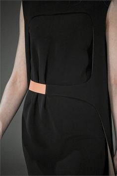 Structured black dress with cut out detail - minimal chic fashion details // Hussein Chalayan