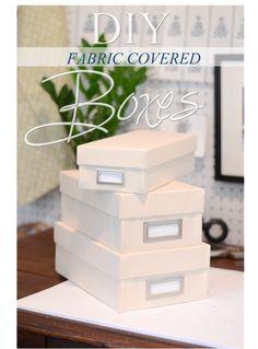 DIY Fabric Covered Box