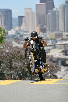 Portrait of Jasin Phares on his Frisco-Panhead... one of the greatest Chopper photos ever taken. The Flying Dutchman took this shot. Phenomenal.